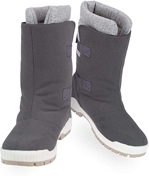 Winter grip Women Snow Boots SR Felt Strapper Anthracite
