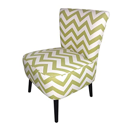 Joveco Fabric Chevron Armless Slipper Side Chair   Yellow