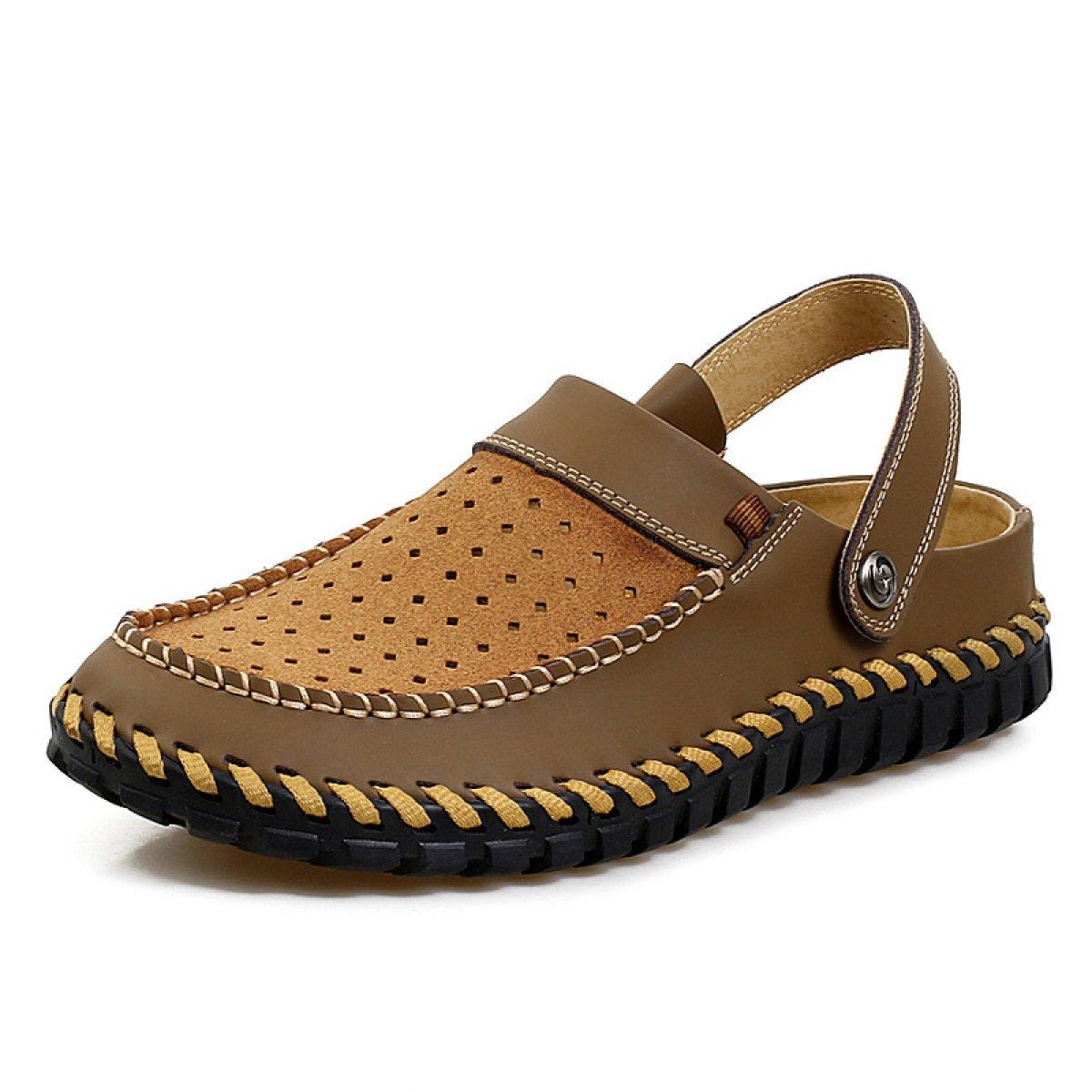 LXXAMens Verano Playa Zapatos Al Aire Libre Cuero Real Hombre Zapatilla Deportes Sandalias Zapatillas De Atletismo,Brown1-41EU 41EU|Brown1