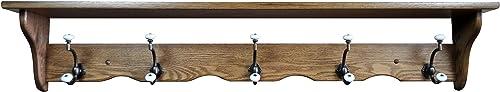 Wood Coat Rack Shelf Wall Mounted