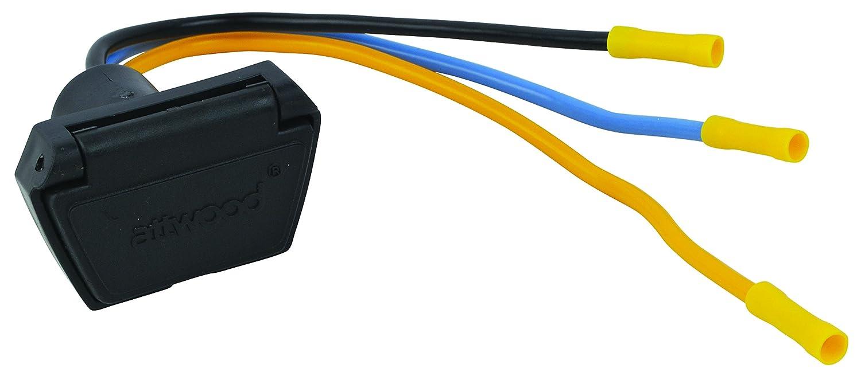 Attwood 7622 7 12v 24v 3 Wire Trolling Motor Connector Prong Plug Wiring Diagram 10 Gauge Automotive