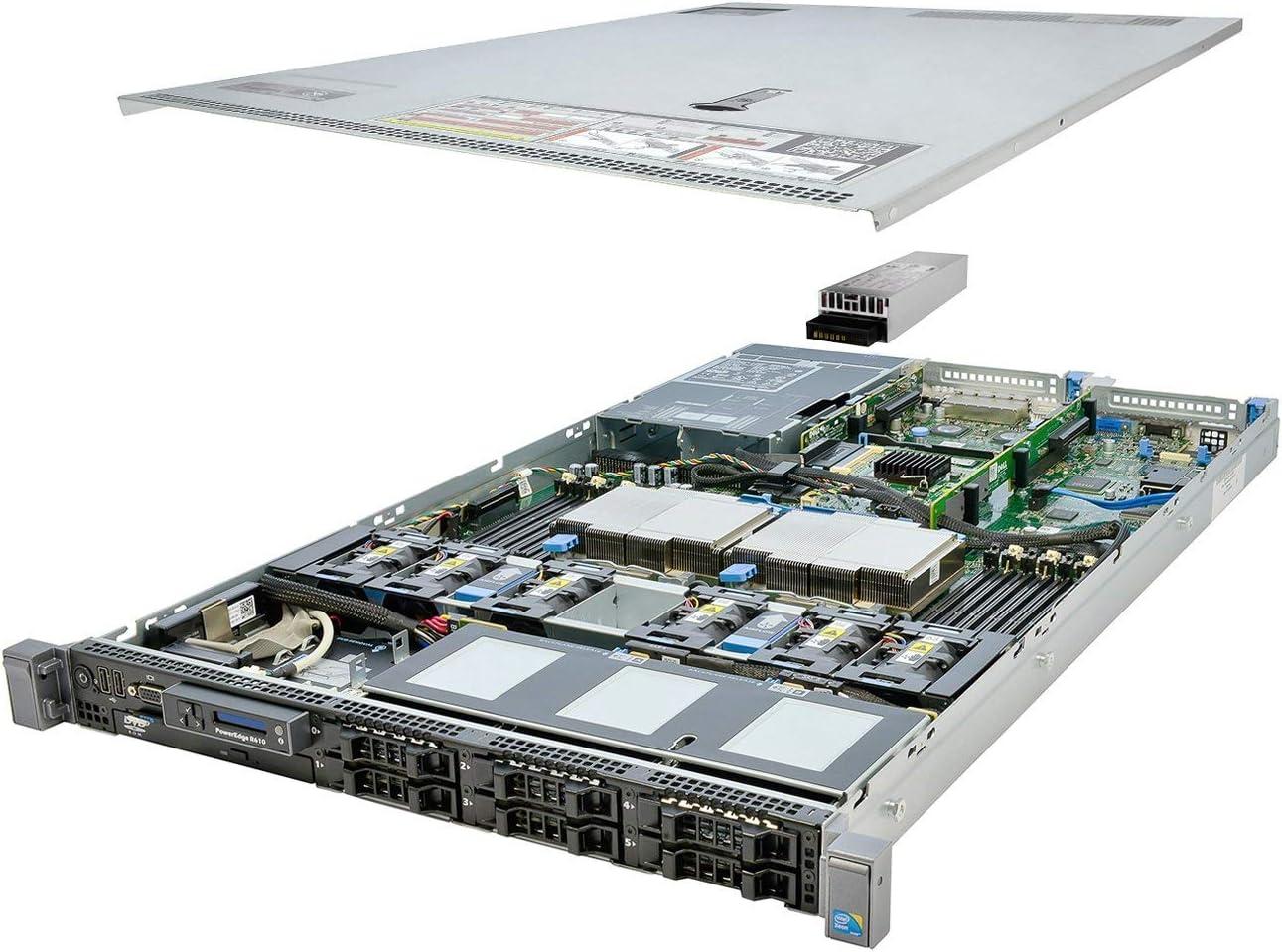 Premium Dell PowerEdge R610 Server 2x 3.33Ghz X5680 6C 48GB (Renewed)