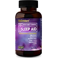 60-Count BioEmblem Capsules Natural Sleep Aid for Adults with Melatonin