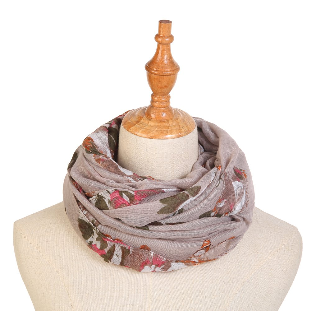 Infinity Scarfs for Women Loop Circle Fashion Scarf Floral Print Lightweight Scarves by RIIQIICHY (Image #3)