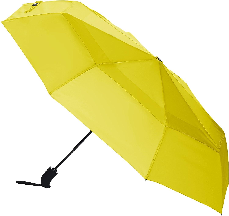 Repel Umbrella 4 Repel Windproof Travel Umbrella with Teflon Coating Yellow