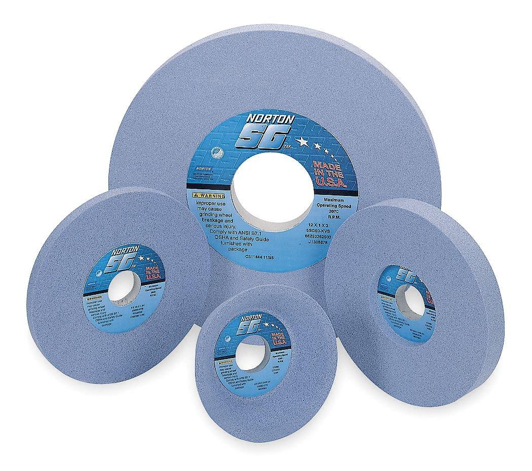 1-1//2 Thick 5 Hole Size 46 Grit SG Ceramic I Hardness Type 1 Toolroom Surface Grinding Wheel Norton 12 Dia