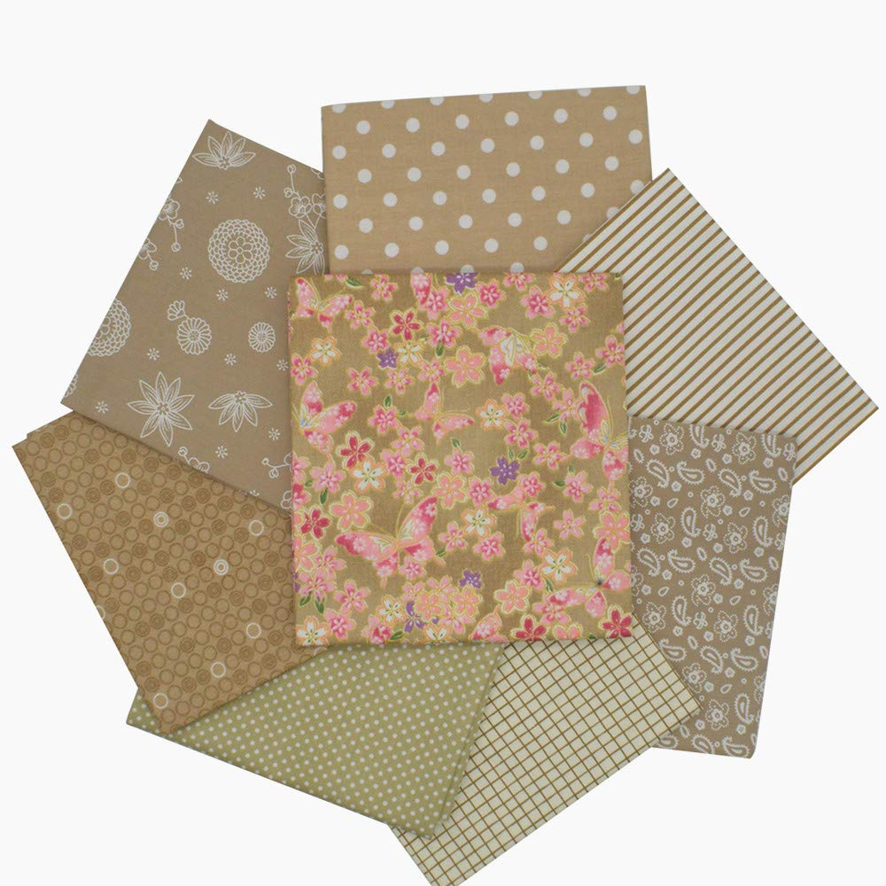 iNee Light Coffee Fat Quarters Fabric Bundles, Quilting Sewing Fabric, 18 x 22 inches,(Light Coffee) by iNee (Image #3)