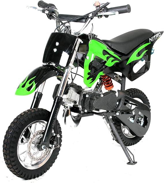Orange Whisper 49cc Dirtbike 10//10 Bereifung 3 Stufen Drossel Dirtbike Pocketbike Crossbike