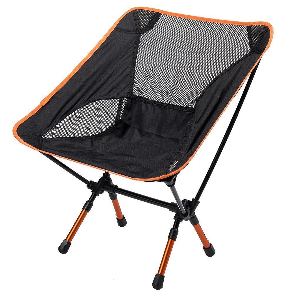 SUNVP Portable Ultraleicht verstellbarer Klappstuhl mit Tragetasche Schwerer Kapazitätsstuhl für Outdoor Camping Wandern Angeln