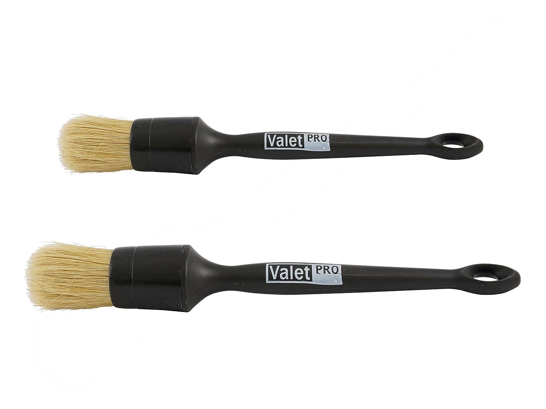 1piece of ValetPRO Large Sash Brush Black plus 1ValetPRO Dash Brush Black for cleaning car interiors, Air Vents, Engine Compartment, Wnidow/Door Seals