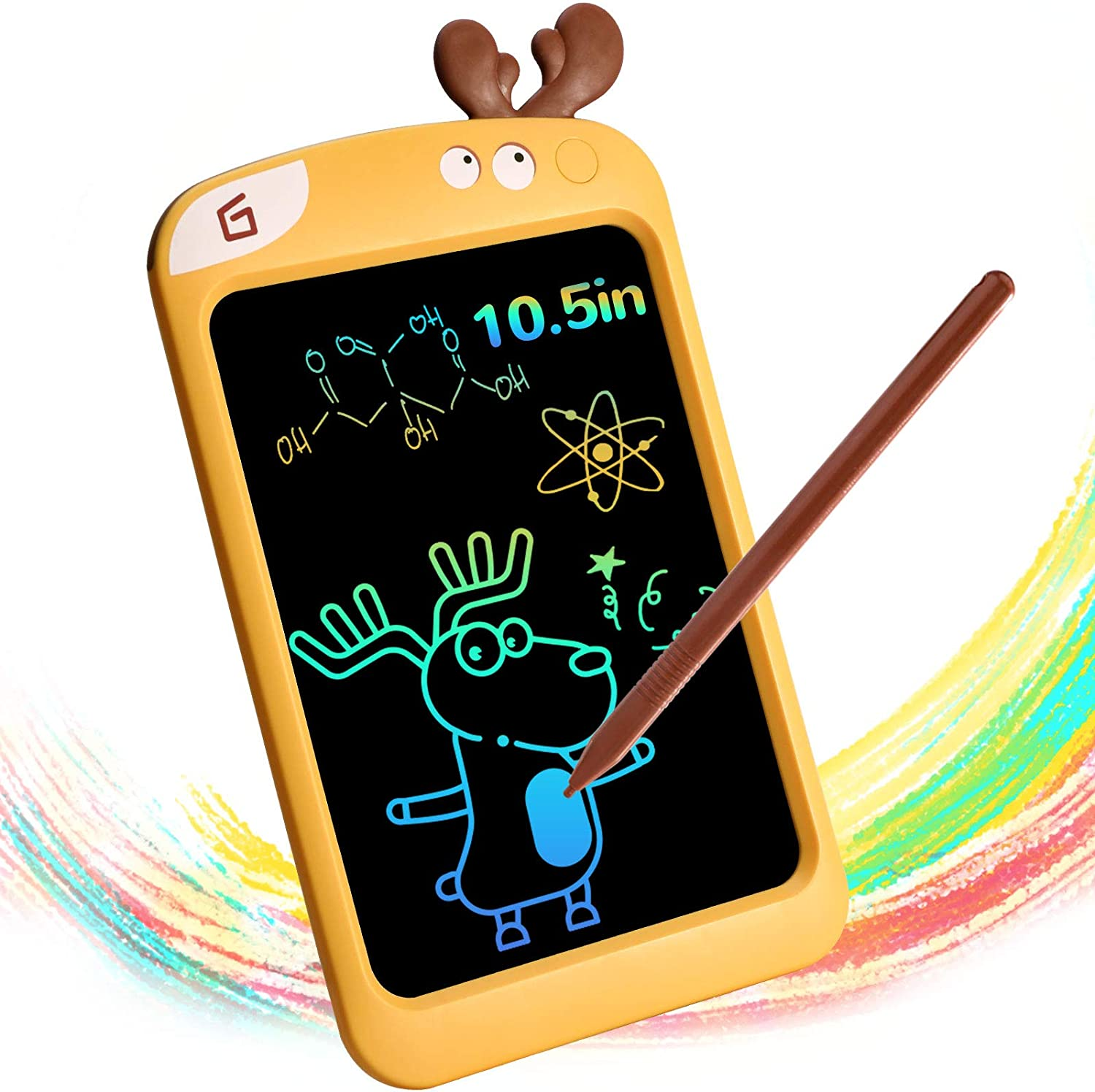LCD Writing Tablet,Colorful Drawing Doodle Board,10.5 Inch Portable Electronic Graphics Learning Toys for Age 3-8 Boys or Girls