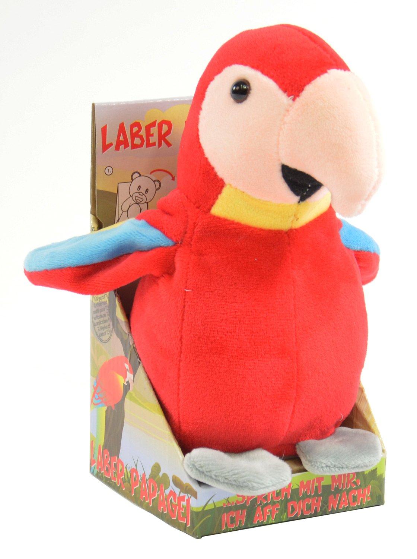Kögler 75631 - Laber-Papagei, plappert Alles Nach-Plüsch Winfried Kögler Vögel