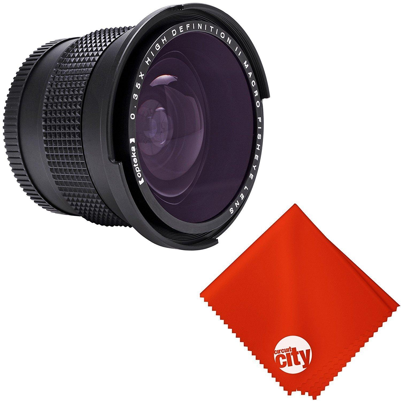Opteka 0.35X Professional Super Wide Angle Fisheye Lens with Macro Close Up for Canon Vixia HF G40, G20, XF205, XF200, XF105, XF100, XA35, XA30, XA25, XA10, XC10, GL2 and GL1 Digital Camcorders by Circuit City