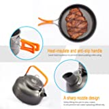 Overmont Camping Cookware Set Campfire Kettle