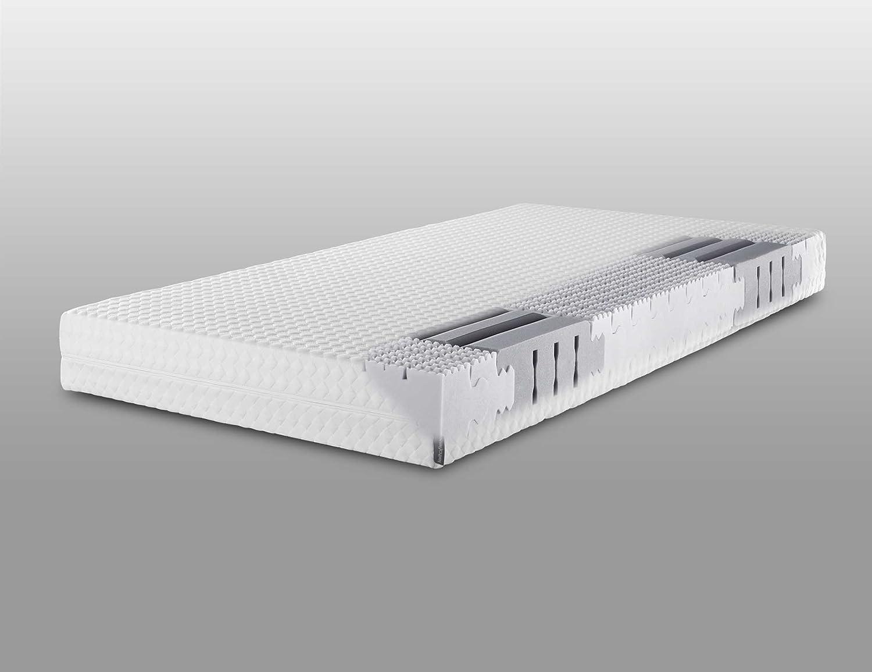 Lattoflex Matratze Compact mit Jersey-J Bezug, für Personen, die ein stabileres Liegegefühl (bis max. 110 kg) bevorzugen (120 x 200 cm)