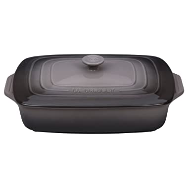 Le Creuset Stoneware 3.5 qt. [12.5  x 8.5 ] Covered Rectangular Casserole - Oyster