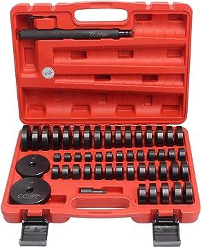 Cclife 52tlg Radlager Druckstück Montagescheiben Satz Buchsen Treibsatz Lagerpresse Werkzeug Auto