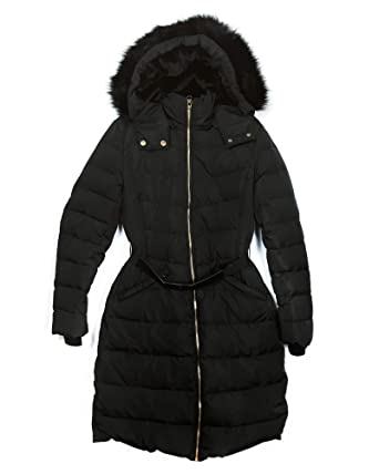 ce35fb740 Amazon.com: Zara Women Hooded Down Puffer Coat 8073/231 Black: Clothing
