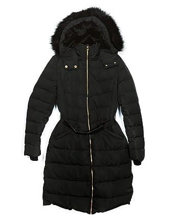3adfad33 Amazon.com: Zara Women Hooded Down Puffer Coat 8073/231 Black: Clothing