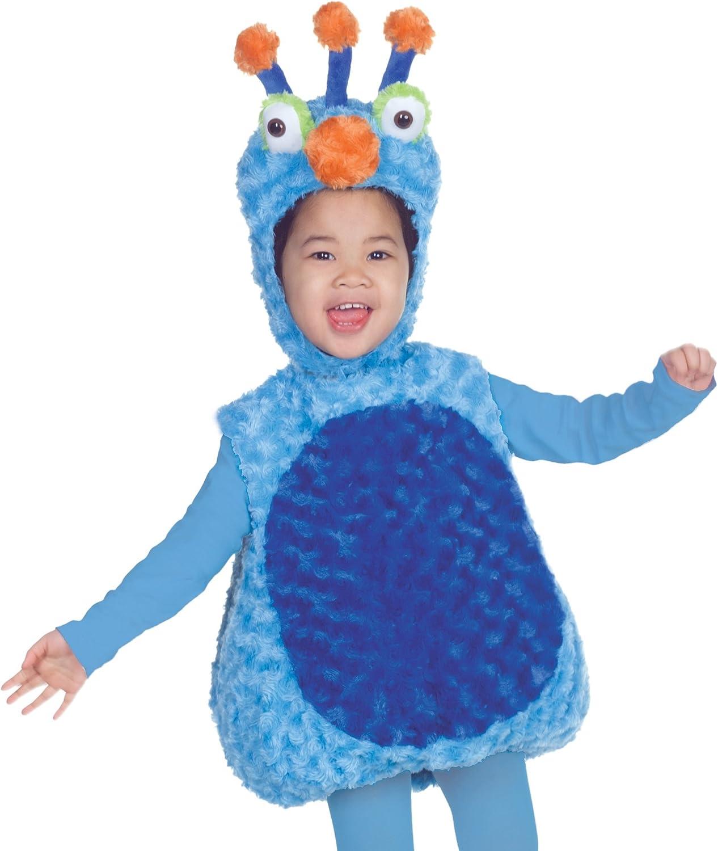 Disfraz infantil de peluche, diseño de monstruo, color azul, talla ...