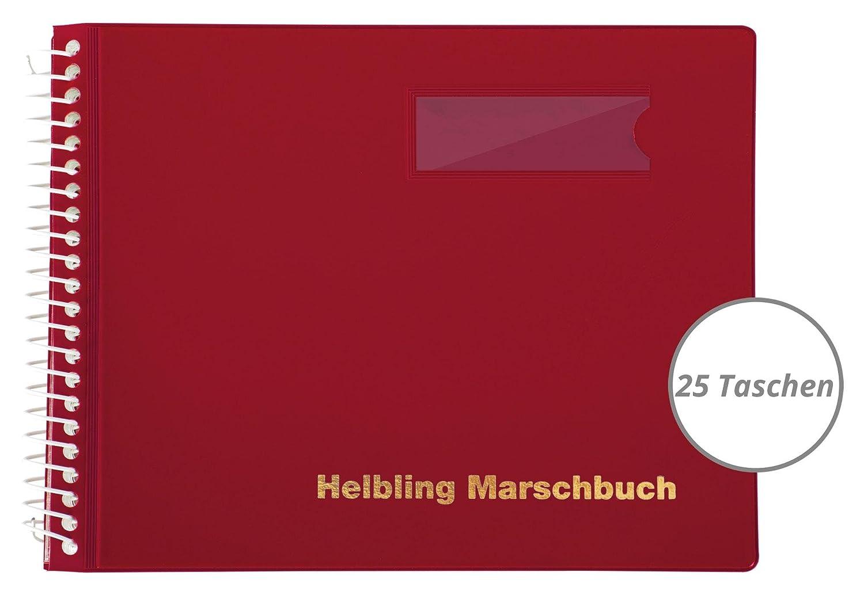 Helbling bmr25 libro de marcha (Ordenador libro con 25 fundas transparentes, antibrillos sobre flexible de plástico, bruchsichere espiral, resistente a la ...