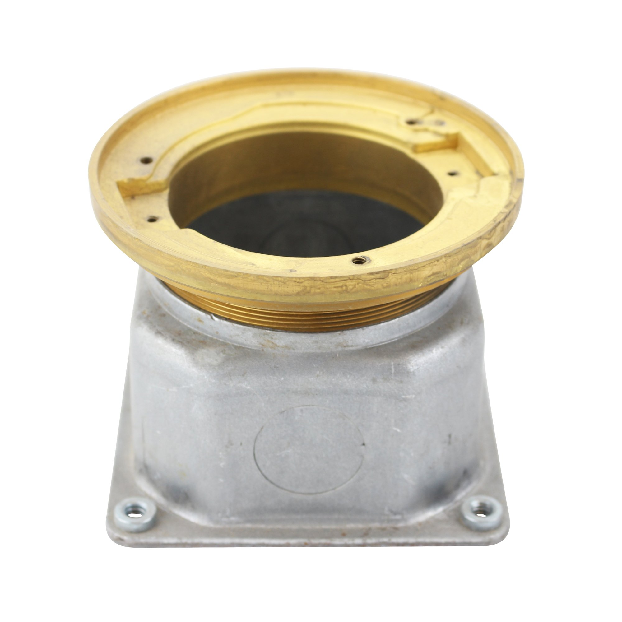 Hubbell Raco 5499 TRU-LEVEL Semi-Adjustable Floor Box, Brass, 4-2/16'' Flange