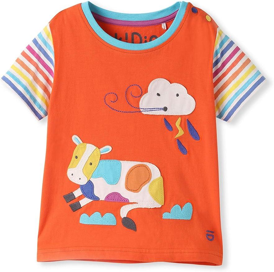 Algodón orgánico - Bebé Niña Niños pequeños - Camiseta de Manga ...