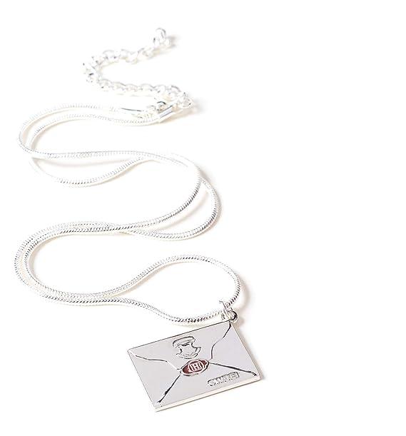 Collar chapado en plata, diseño de carta de Harry Potter ...