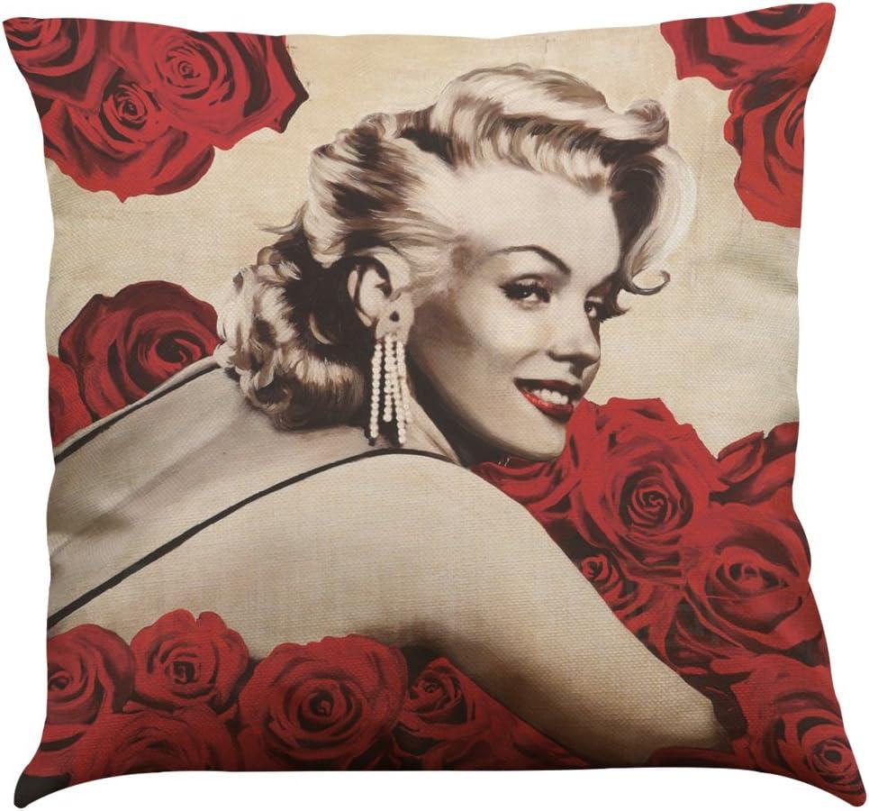 Lot de 3/18/x 18/Coton Lin Throw Pillow Coque avec Marilyn Monroe Impression Home Decor Housse de coussin par LightInTheBox