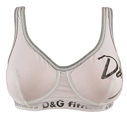 110ee3fae14aa DOLCE   GABBANA  quot Fitness quot  womens with logo sports bra metallic  stretch-cotton