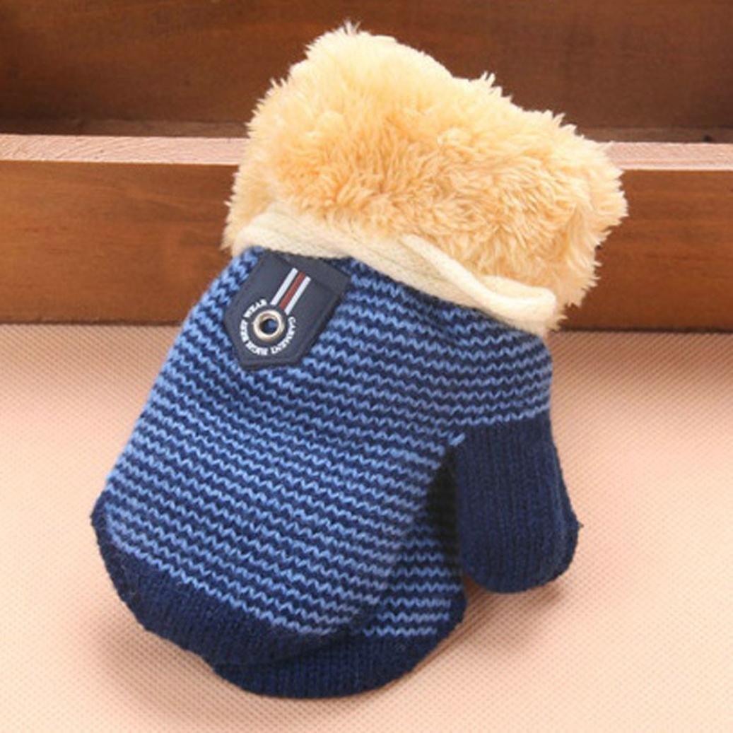 SHOBDW 1 Pairs Baby Girls Boys Cute Thicken Fashion Hot Infant Winter Warm Gloves Boys Gloves