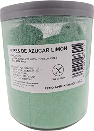 Algodón Nubes de Azúcar Limón 1 Kg: Amazon.es: Alimentación y bebidas