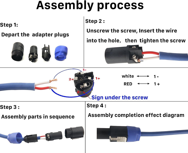 Amazon.com: Devinal SpeakOn Speaker Male Adapter 4 Pole Plug Twist Lock  Connectors Compatible with Neutrik Speakon NA4LJ, NA4LJX, NL4MP, NL4MPR,  NL4FC, NL4FX, NL4 & NL2 Series, NL2FC 4 Pack: Industrial & Scientific
