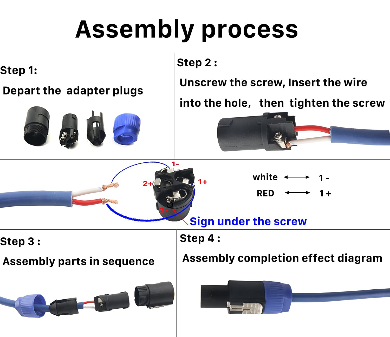 Speakon Connector Wiring Diagram Neutrik Speakon Connector Wiring