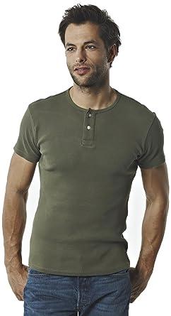 11575f82e3da Levi s Herren T-Shirt Levi s® Ss Skinny Rib Henley 44153, Gr. 54 (XL ...
