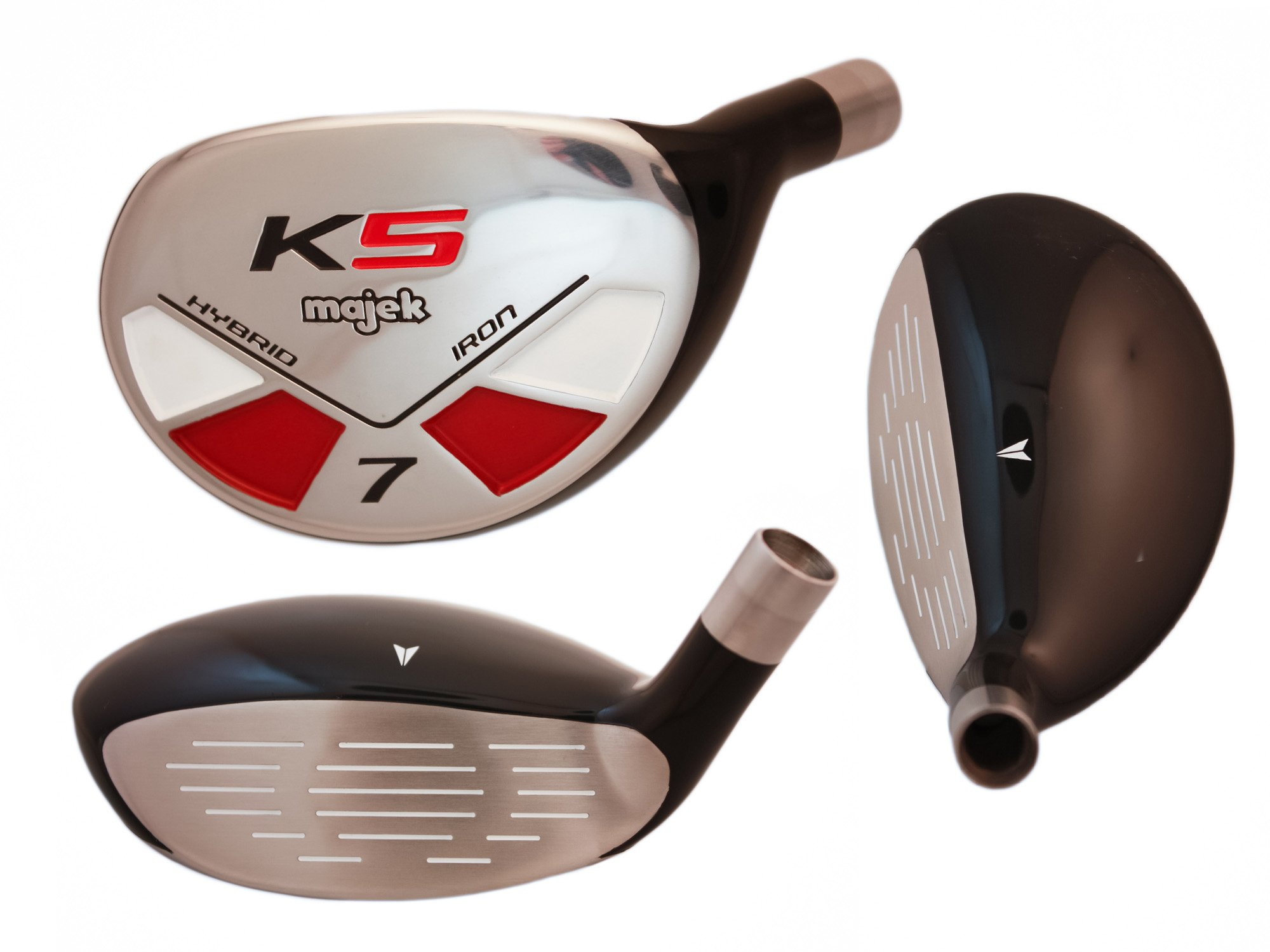 Big Tall Golf All True Hybrids Majek +1'' Longer Than Standard Length (Plus One Inch Longer) Set All Complete Full Set, Which Includes: #3, 4, 5, 6, 7, 8, 9, Pw Regular Flex R Right Handed New Rescue Utility Hybrid by Majek K5 Men's All True Hybrid Set (Regular Flex) (Image #8)