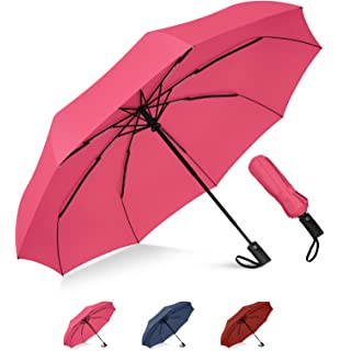 Seamless Background With Orange Doodle Sun Compact Travel Umbrella Windproof Reinforced Canopy 8 Ribs Umbrella Auto Open And Close Button Customized
