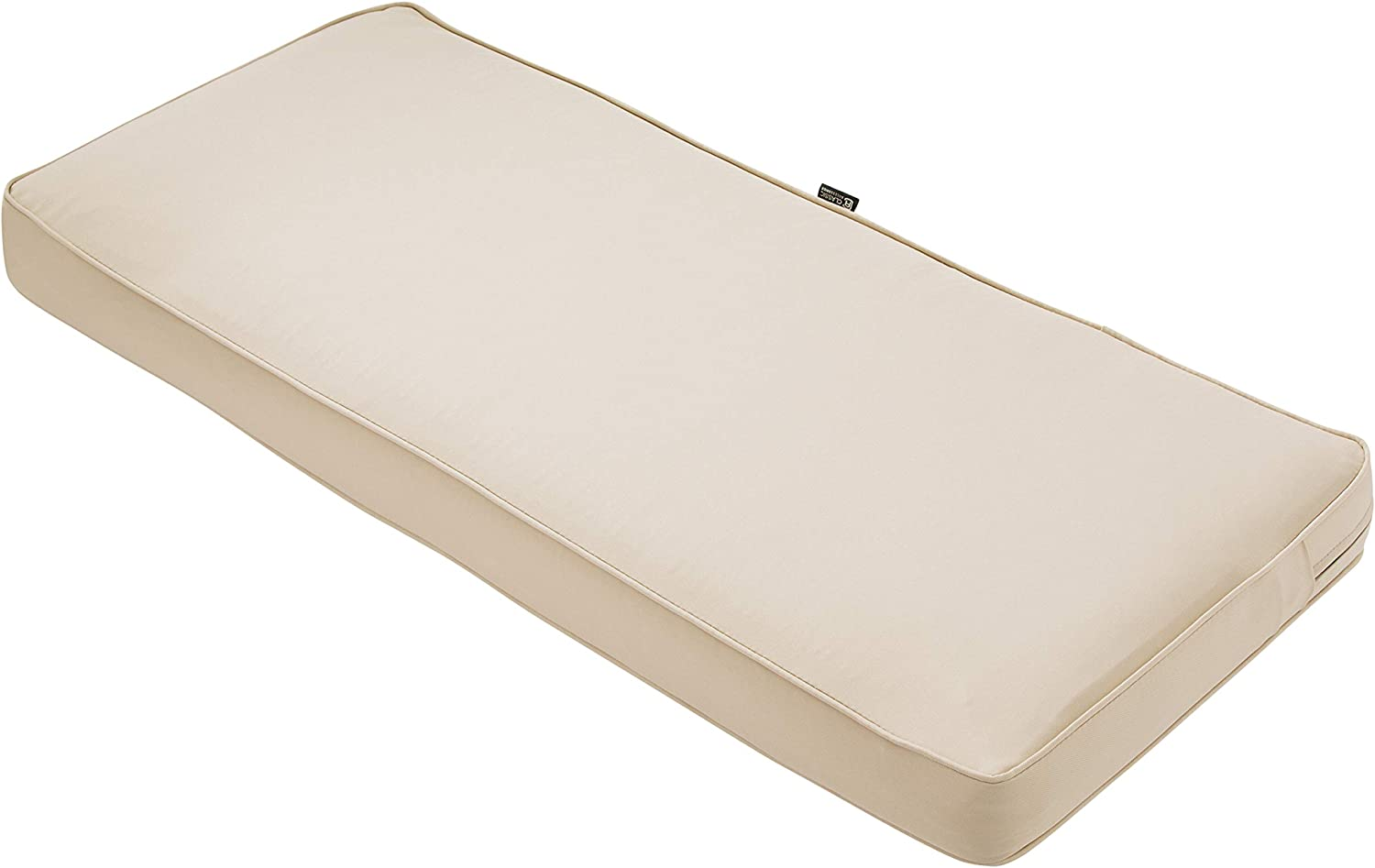"Classic Accessories Montlake Bench Cushion Foam & Slip Cover, Antique Beige, 48x18x3"" Thick"