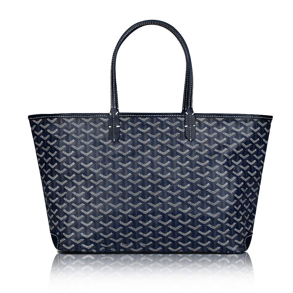 Stylesty Designer Shopping PU Tote Bag Set, Fashion Women Shoulder Handbags with Key Ring (Medium, Darkblue)