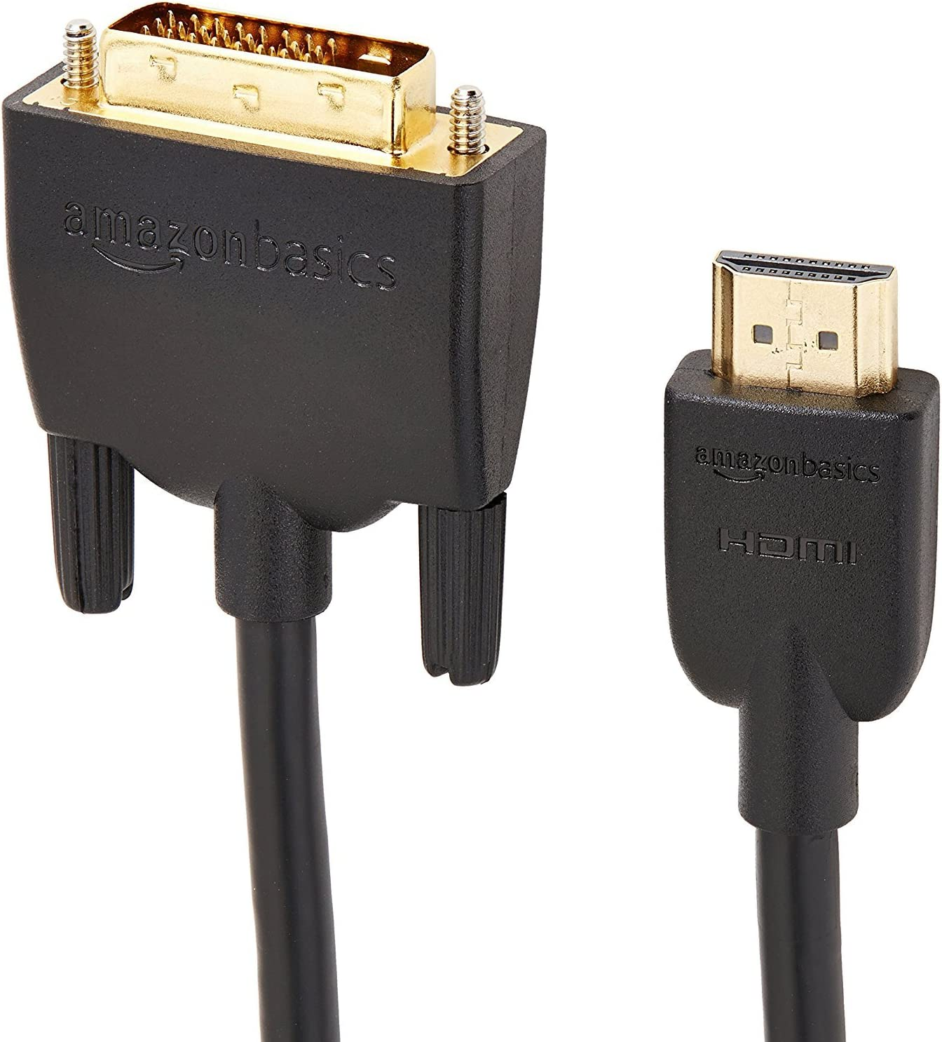 Basics HDMI to DVI Adapter Cable, Black, 6 Feet, 1-Pack: Home Audio & Theater