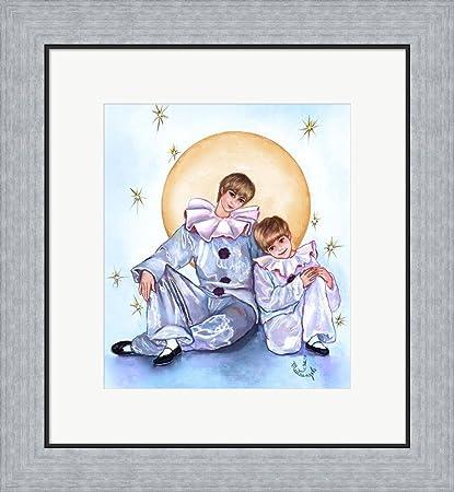 Amazon.com: Big And Little Pierrots by Judy Mastrangelo Framed Art ...