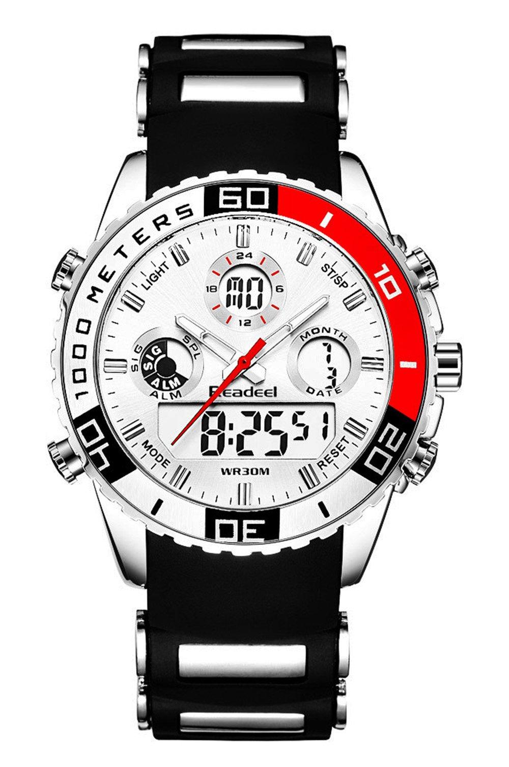 Youwen Top Brand Mens Sport Watches Men Quartz Analog LED Clock Man Military Waterproof Watch Sport by Youwen