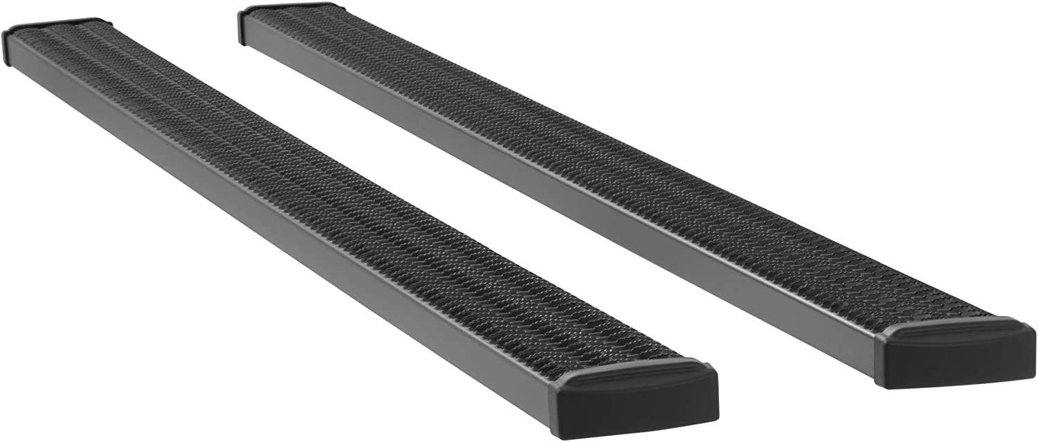 LUVERNE 415054-409921 Grip Step Black Aluminum 54-Inch Truck Running Boards for Select Ford F-250 F-350 F-550 Super Duty F-450