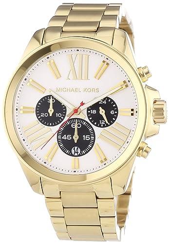 Michael Kors MK5838 - Reloj para mujeres, correa de acero inoxidable color dorado: Amazon.es: Relojes