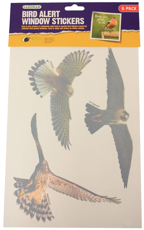 GARDMAN X BIRD ALERT WINDOWGLASS STICKERSSILHOUETTE HOME NEW - Window decals deter birds