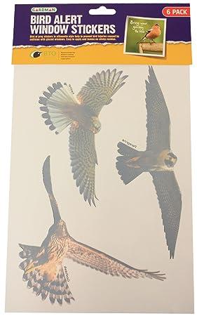GARDMAN X BIRD ALERT WINDOWGLASS STICKERSSILHOUETTE HOME NEW - Window stickers amazon uk