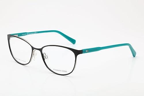 Tommy Hilfiger Brillen Für Frau 1319 VKM, Black / Oil Gestell aus Metall und Kunststoff