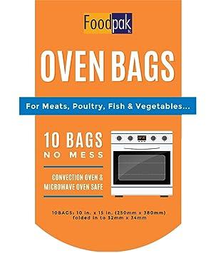foodpak horno bolsas - 10 unidades horno Roasting bolsas ...