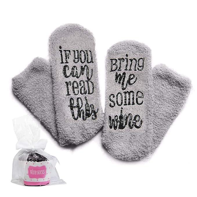 WOWOSS Regalo Calcetines para Mujer Calcetines de Felpa Cálido y Cómodo Regalo de Vacaciones Perfecto Enviar Familia, Amigos Cálido Regalo de Navidad: ...