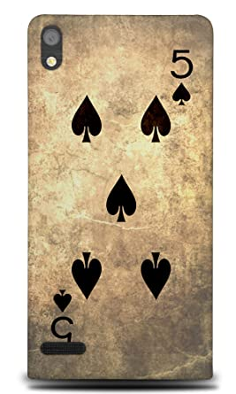 Amazon.com: Five 5 of Spades Playing Cards Hard Phone Case ...